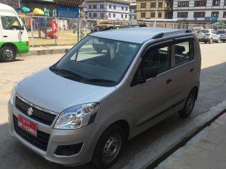 2016 Suzuki Maruti Wagon R parked in Paro town