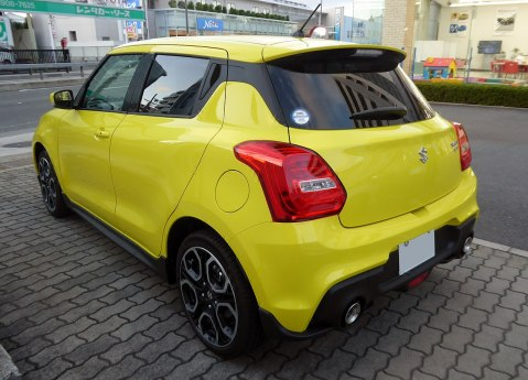 2018 Suzuki Swift Sport Boosterjet 1.4 rear