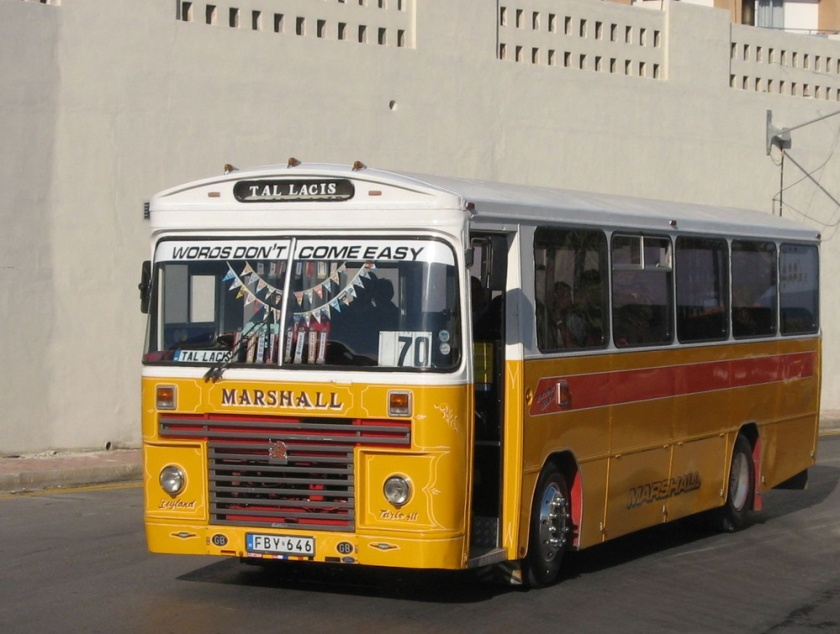 646 Bedford YMP Marshall Ex A203 LCL