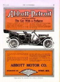 Abbott - Detroit Car Company Classic Ads