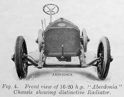 Aberdonia fig.4 front view of 16-20hp chassis showing distinctive Radiator