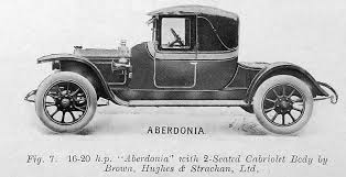 Aberdonia fig,7 16-20hp 2seated cabriolet and body by Brown, Hughes + Strachan Ltd
