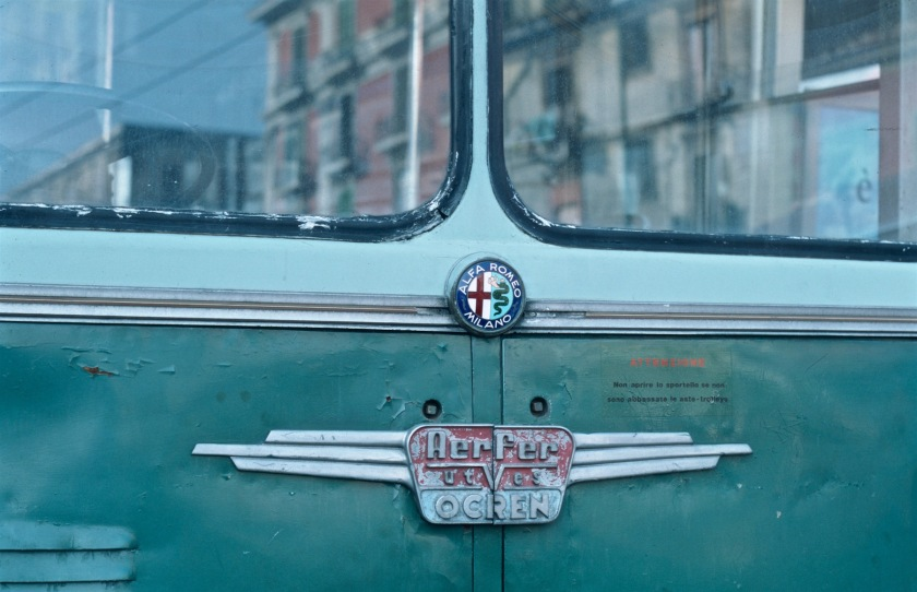 Alfa Romeo-Aerfer-OCREN trolleybus of CTP Napoli