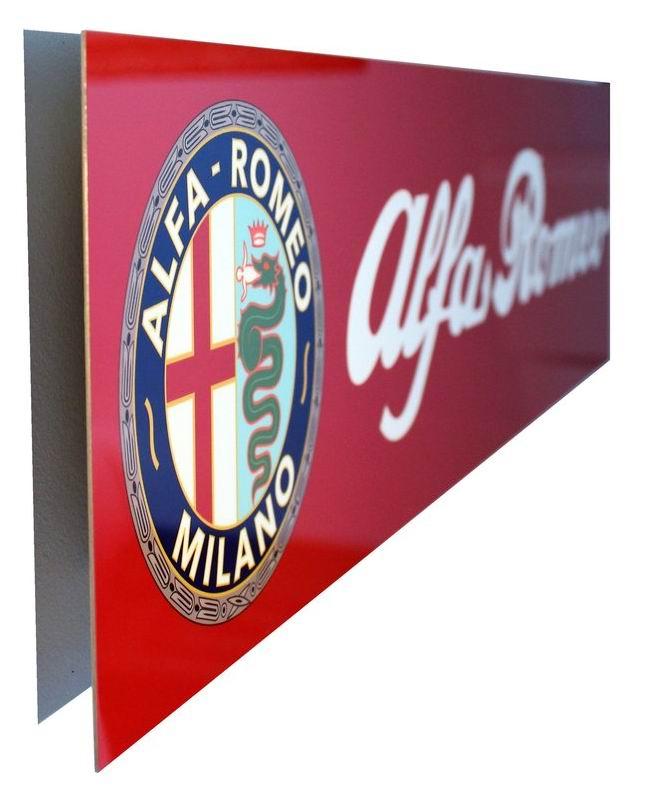 Alfa Romeo Emblem Metal Sign, Banner Style