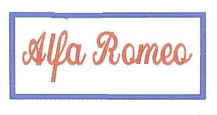 ALFA ROMEO geborduurd badge