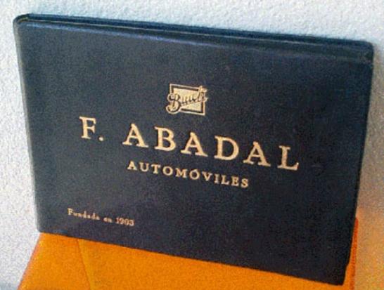 Buick F. ABADAL Automoviles Fundada en 1903 librobuik