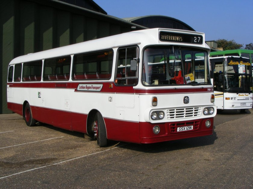 Edinburgh Corporation Transport preserved bus 121 Bedford YRT Alexander Y Type GSX 121N