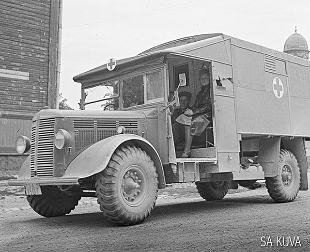 Finnish Bedford ML Ambulance