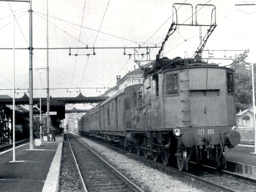Locomotiva E333-006 ad Acqui Terme