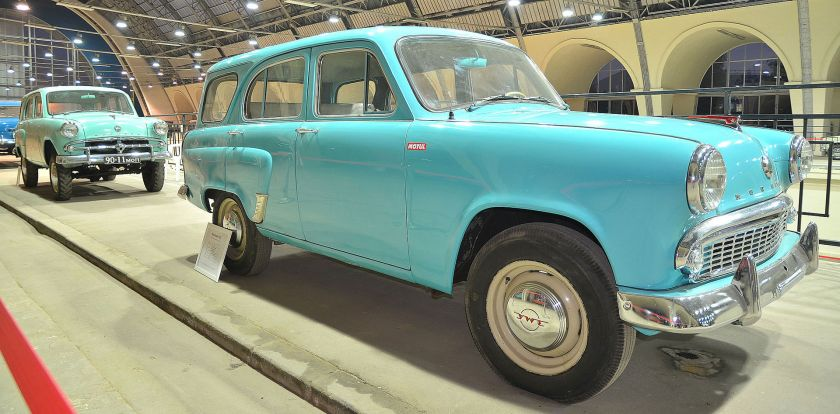 Moskvitch 423, the first Soviet non-woodie station wagon - Москвич 423