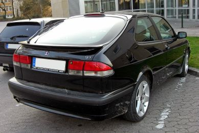 Saab 9-3 3-door Coupé (Europe) rear