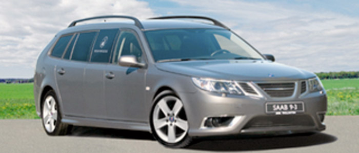 Saab 9-3 stretched wagon (hearse)