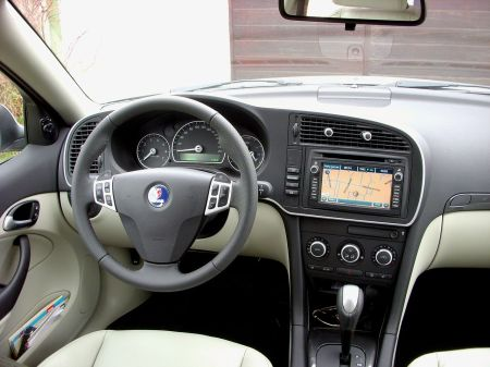 Saab 9-3 updated interior