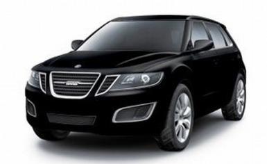 Saab 9-4X black front