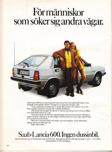 Saab-Lancia 600 adv