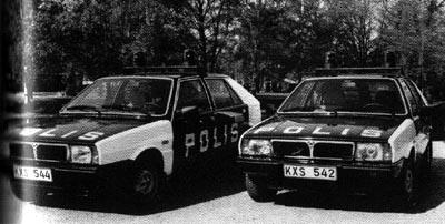 Saab Lancia 600 Polizeifahrzeuge
