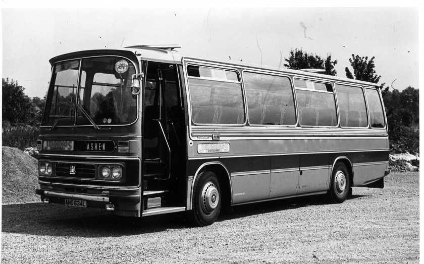 Springetts Bedford YRQ -Duple Dominant. Jennings Coaches of Ashen ANO 634L