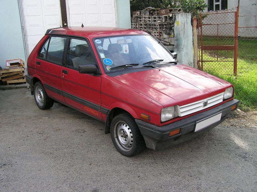 Subaru Justy 4WD, original version first gen