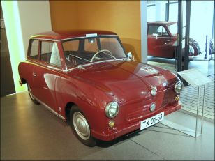 1954 prototype for the Trabant, type P50, built in 1954 by FEW (research and developement centre) in Karl Marx City (now Chemnitz)
