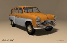 1958 Moskvitch 423N orange white