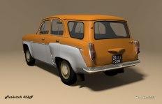 1958 Moskvitch-MZMA 423N orange white rear