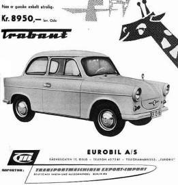 1961 trabant sedan