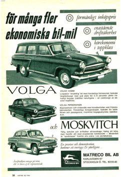 1964 Moscvitch - Volga ad Stockholm