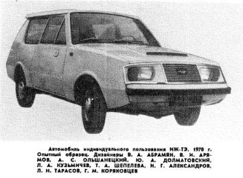 1967 VNIITE Izh TE 02