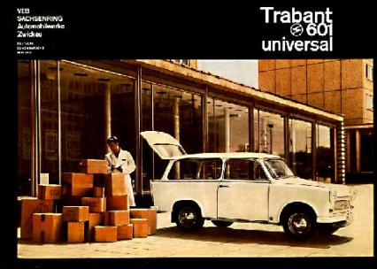 1970's Trabant 601 Station Wagon White