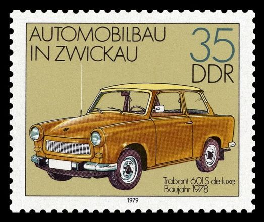 1979 représentant une Trabant 601 « S de Luxe ».
