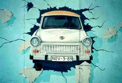 Berlin Wall Trabant grafitti