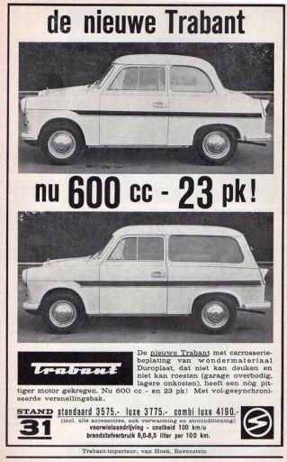 de nieuwe Trabant nu 600cc - 23 pk advertentie
