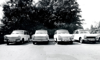 East Berlin Trabant Foursome
