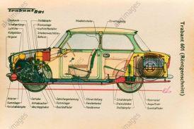 Röntgenschnitt durch einen Trabant 601