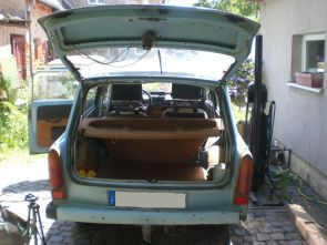 Stauraum eines Trabant 601 Universal (Kombi)