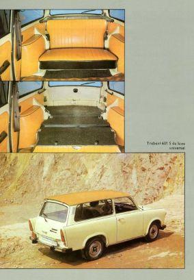 Trabant 601 S deluxe universal prospekt