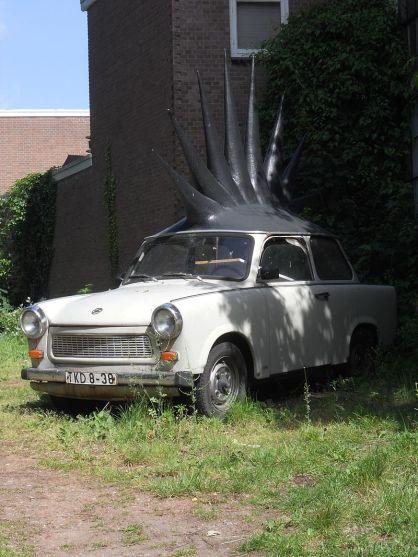 Trabant als Kunstobjekt in Enschede - PunkTrabbi