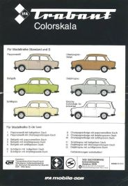 Trabant IFA Colourskala