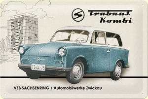 trabant kombi embossed metal-sign 3796-p